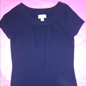 Dark blue sweater (short sleeved)